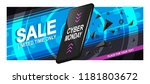 banner sale for cyber monday. a ...   Shutterstock .eps vector #1181803672