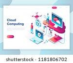 modern flat design isometric... | Shutterstock .eps vector #1181806702