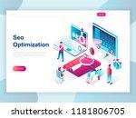 modern flat design isometric... | Shutterstock .eps vector #1181806705