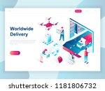 modern flat design isometric... | Shutterstock .eps vector #1181806732