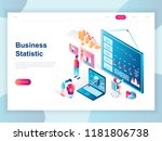 modern flat design isometric... | Shutterstock .eps vector #1181806738
