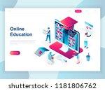 modern flat design isometric... | Shutterstock .eps vector #1181806762