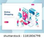 modern flat design isometric... | Shutterstock .eps vector #1181806798
