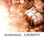 christmas background lights on... | Shutterstock . vector #118180975