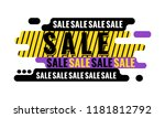 sale web banner. discount...   Shutterstock .eps vector #1181812792
