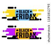 black friday sale web banner....   Shutterstock .eps vector #1181812795