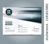 business print template. modern ...   Shutterstock .eps vector #1181815882