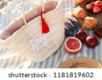 summer time at the sea. picnic... | Shutterstock . vector #1181819602