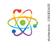 scientific atom symbol  logo ... | Shutterstock .eps vector #1181831635