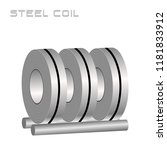 slitting rolled steel coil ...   Shutterstock .eps vector #1181833912