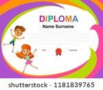 kids diploma certificate... | Shutterstock .eps vector #1181839765