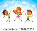 isolated collection of happy... | Shutterstock .eps vector #1181839795