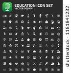education vector icon set | Shutterstock .eps vector #1181841232