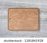 new rectangular wooden cutting... | Shutterstock . vector #1181841928