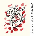 typography slogan with rose...   Shutterstock .eps vector #1181845468
