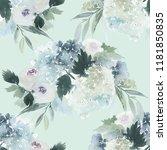 seamless watercolor pattern... | Shutterstock . vector #1181850835