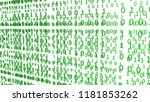 green binary codes on a white... | Shutterstock . vector #1181853262