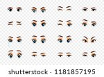 cartoon female eyes.... | Shutterstock . vector #1181857195