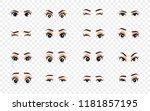 cartoon female eyes.... | Shutterstock . vector #1181857195