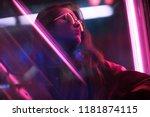 cinematic night portrait of... | Shutterstock . vector #1181874115