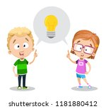 idea generation concept with... | Shutterstock .eps vector #1181880412