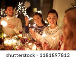 winter holidays and people... | Shutterstock . vector #1181897812
