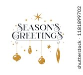 seasons greetings typography... | Shutterstock .eps vector #1181899702
