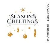 Seasons Greetings Typography...