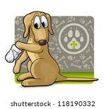 dog at the doctor's. cute... | Shutterstock .eps vector #118190332