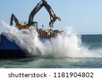 land reclaim from the sea in... | Shutterstock . vector #1181904802