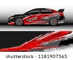 car decal wrap design vector.... | Shutterstock .eps vector #1181907565