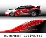 car decal wrap design vector....   Shutterstock .eps vector #1181907568