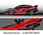 car decal wrap design vector.... | Shutterstock .eps vector #1181907865