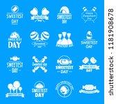 tasty candy logo set. simple... | Shutterstock .eps vector #1181908678