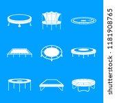 trampoline jumping park joy... | Shutterstock .eps vector #1181908765