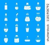 potion magic bottle icons set.... | Shutterstock .eps vector #1181908792