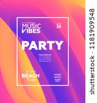 night party banner template for ... | Shutterstock .eps vector #1181909548