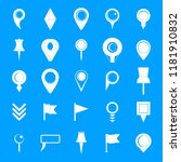 map pointer icons set. simple... | Shutterstock .eps vector #1181910832