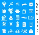 taxes icons set. simple... | Shutterstock .eps vector #1181910988