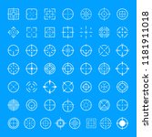 aim target icons set. simple... | Shutterstock .eps vector #1181911018