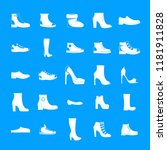 footwear shoes icon set. simple ... | Shutterstock .eps vector #1181911828