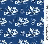 merry christmas and happy new... | Shutterstock .eps vector #1181912668