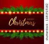 christmas background. retro... | Shutterstock .eps vector #1181915182