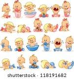 vector illustration of baby... | Shutterstock .eps vector #118191682