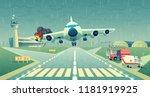vector mayday landing of the... | Shutterstock .eps vector #1181919925