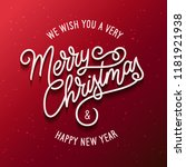merry christmas and happy new... | Shutterstock .eps vector #1181921938
