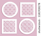 templates for laser cutting ... | Shutterstock .eps vector #1181928178