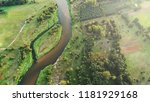 natural river from the drone | Shutterstock . vector #1181929168