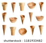 collection of empty ice cream... | Shutterstock . vector #1181933482