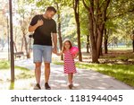 family  parenthood  fatherhood  ... | Shutterstock . vector #1181944045